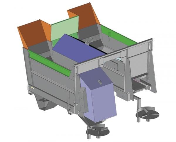 Epandeurs Twinbox sur Pellenc - Vue 3D