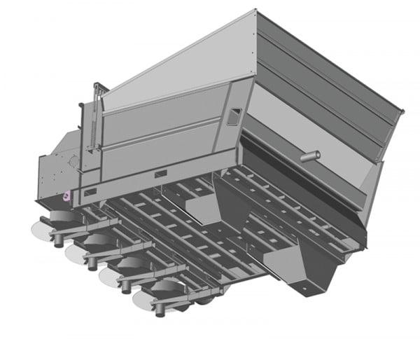 Epandeur monobox sur pellenc - Vue 3D